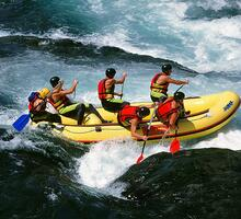 Rafting in canyoning
