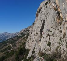 Rock climbing site in Brela